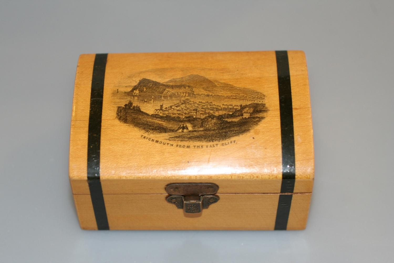 Mauchlineware Box - Teignmouth Scene