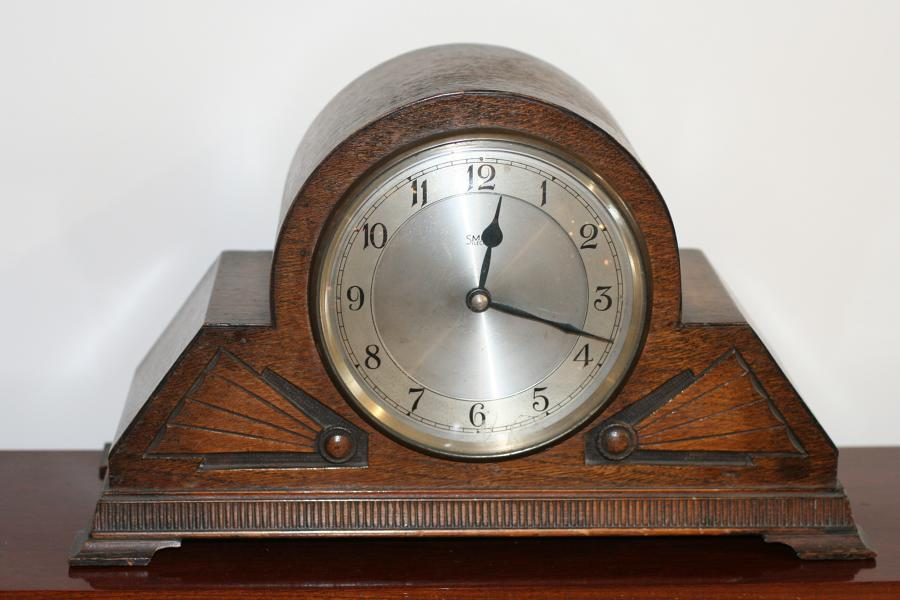 Art Deco Clock - Smith's Electric Oak Cased
