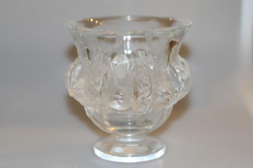 Lalique Glass Bird Vase In Glass