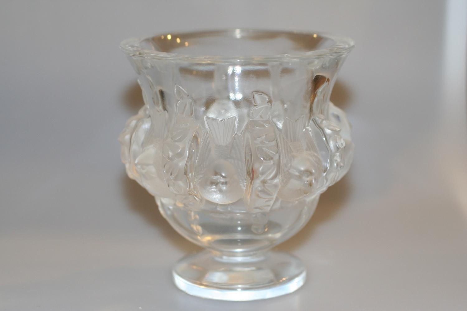 Lalique Glass Bird Vase