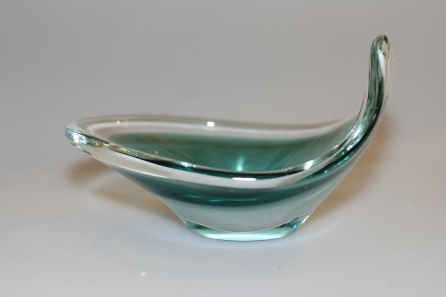 Swedish Flygsfors Coquille Glass Dish