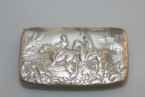Cornish Pewter Snuff Box