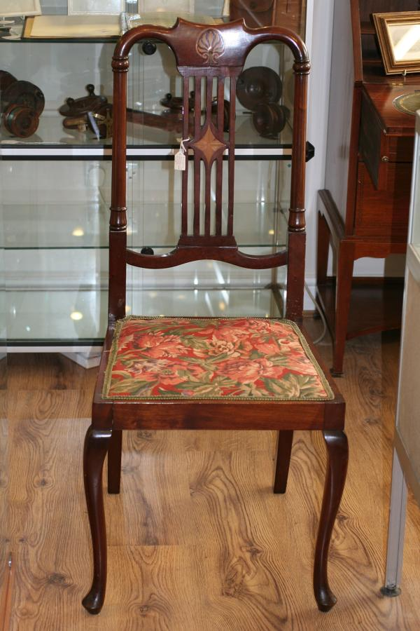 Edwardian Mahogany & Satinwood Inlaid Chair