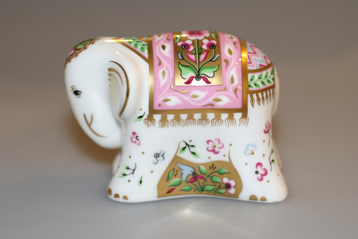 Crown Derby Baby Indian Elephant